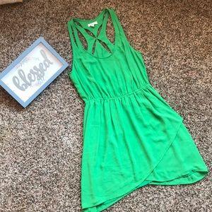 EUC vibrant green summer dress